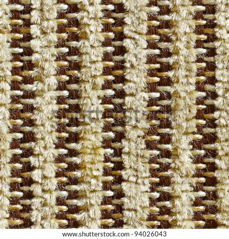 Square seamless texture - old brown cloth upholstery - stock photo