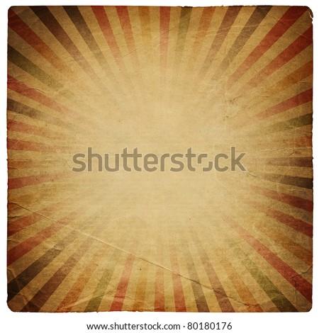 Square shaped sunburst ornated paper sheet. Isolated on white. - stock photo