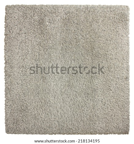 Square soft shaggy carpet - stock photo