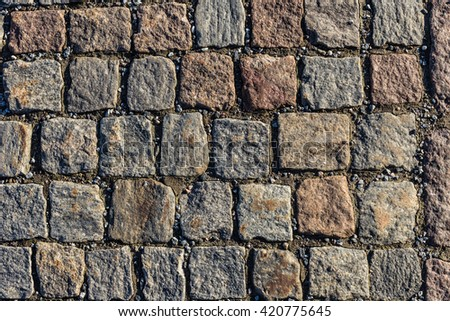 Square Stone pavement ground texture pattern