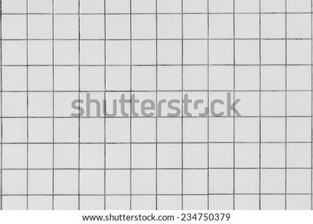 Square Tiles Background Vintage Wall square tiles on wall background in black white vintage tones - stock photo