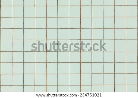 Square Tiles Background Wall tiles on wall background in vintage tones - stock photo