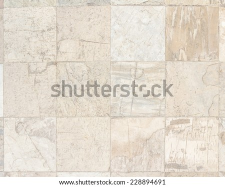 Square tiles slate stone walk way - stock photo