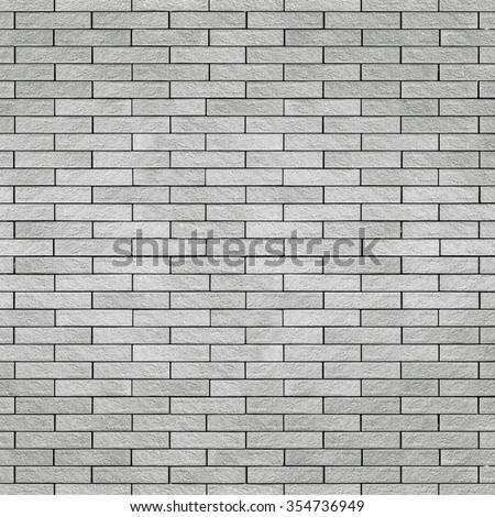 Square white brick wall background - stock photo