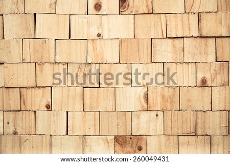 square wood stump background  with natural wood pattern