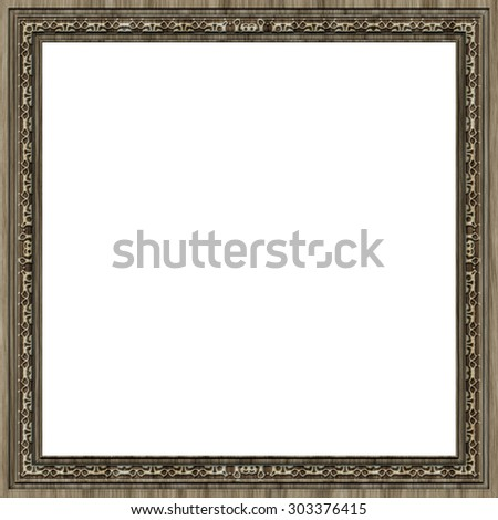 Square wooden frame