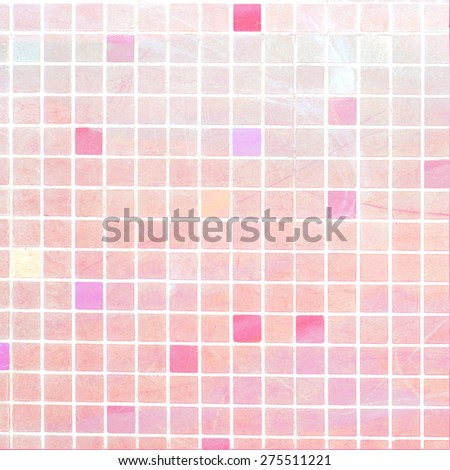 squared colorful tiles - close up of abstract textured background - stock photo