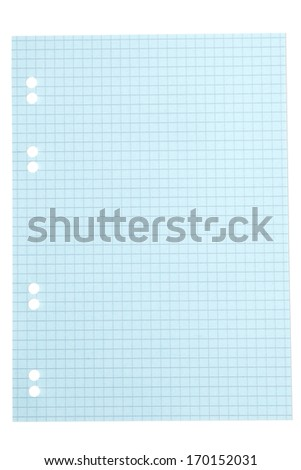 Squared paper sheet background - stock photo