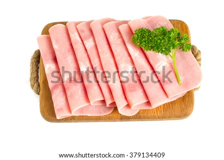 squared slice of lean pork ham