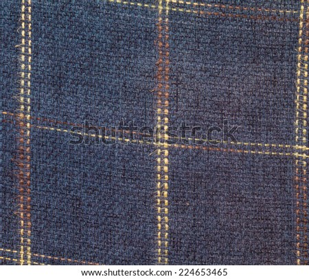 squared textile texture for background isolated in the closeup - stock photo
