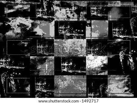squares framed background - stock photo