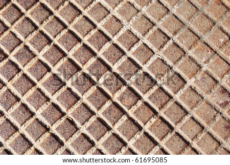 squares in the iron - stock photo