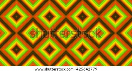 squares of blended stripes of paint in shades of orange, green, yellow and red (seamless texture) - stock photo