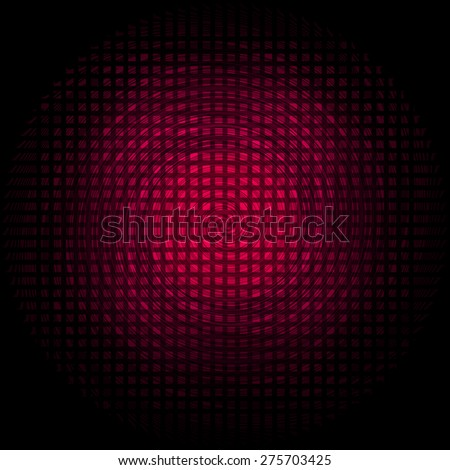 Squares pattern textured black background with effect red