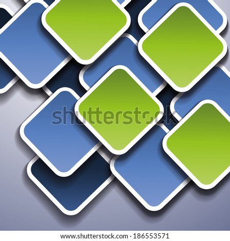 Squares with Drop Shadows - Abstract Background - stock photo