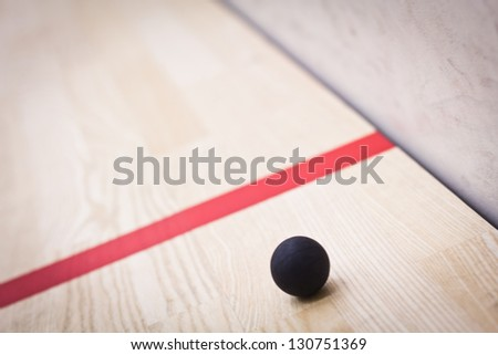 Squash ball - stock photo