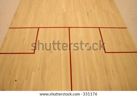 squash court view from the top