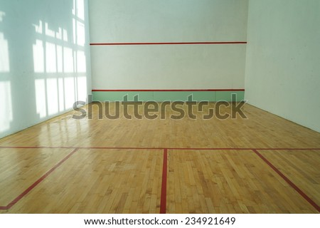 Squash room - stock photo