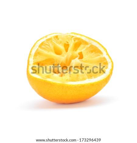 squeezed lemon  - stock photo