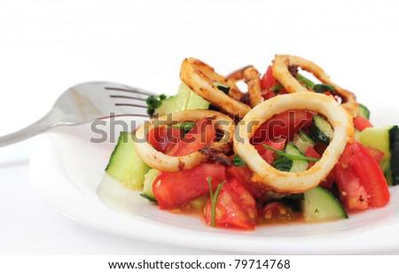 Squid salad - stock photo