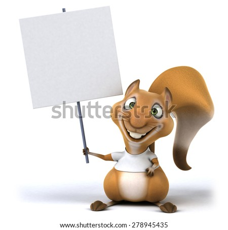 Squirrel with a white tshirt - stock photo