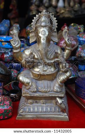 Sri Ganesha, Hindu God,Nepal - stock photo