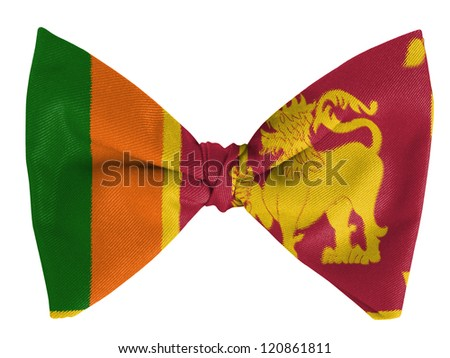 Sri Lanka flag  on a bow tie - stock photo