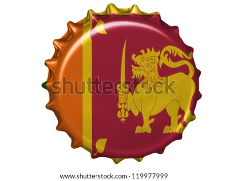 Sri Lanka flag painted on stopper - stock photo