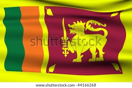 Sri Lankan flag - stock photo