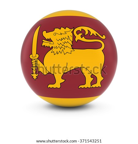 Sri Lankan Flag Ball - Flag of Sri Lanka on Isolated Sphere - stock photo