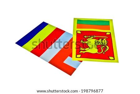 Sri Lankan National Flag And Buddhist