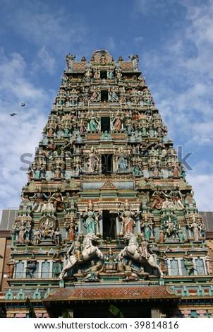 Sri Mahamariamman Hindu Temple in kuala lumpur - stock photo
