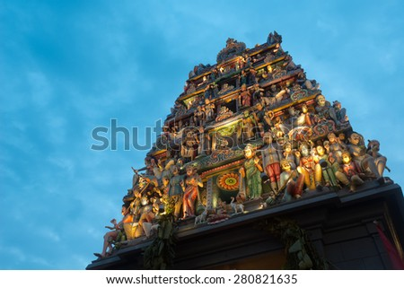 Sri Mariamman Hindu Temple, Chinatown - Singapore  - stock photo