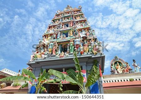 Sri Mariamman Hindu Temple  Of Singapore  - stock photo