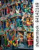 Sri Mariamman Temple, Singapore's oldest Hindu temple - stock photo