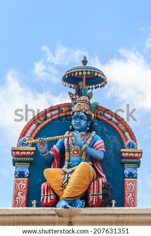 Sri Mariamman Temple, The Hindu Temple In Singapore - stock photo