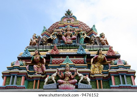 Sri Srinivasa Temple, Singapore - stock photo
