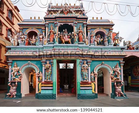 Sri Vadapathira Kaliamman Temple, Little India, Singapore - stock photo