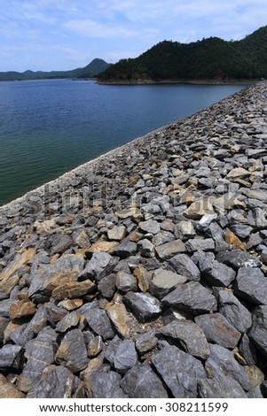 Srinakarin dam in Thailand - stock photo