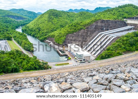 Srinakarin dam, Kanchanaburi, Thailand - stock photo