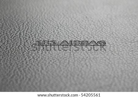 SRS Airbag sign - technology safety background - stock photo