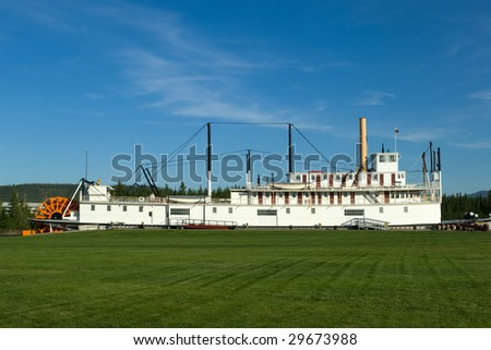 SS Klondike sternwheeler in Whitehorse, Yukon - stock photo