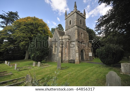 St. Adelines Church, Little Sodbury, South Gloucestershire. Built 1859 - stock photo