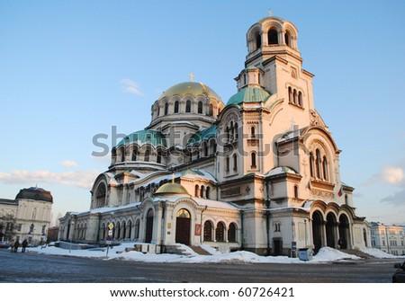 St. Alexander Nevski Cathedral in Sofia - stock photo