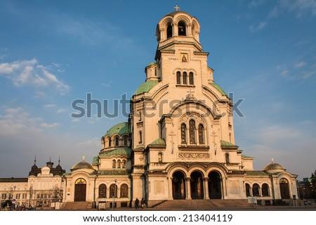 St. Alexander Nevsky Cathedral, Sofia - stock photo
