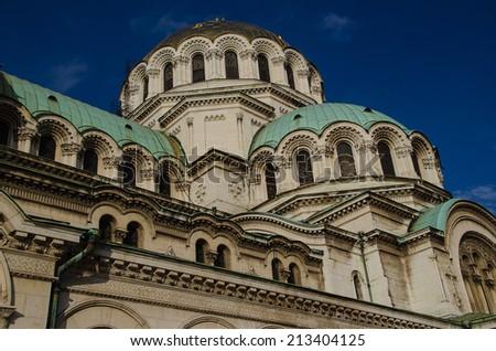 St. Alexander Nevsky Cathedral, Sofia - detail - stock photo