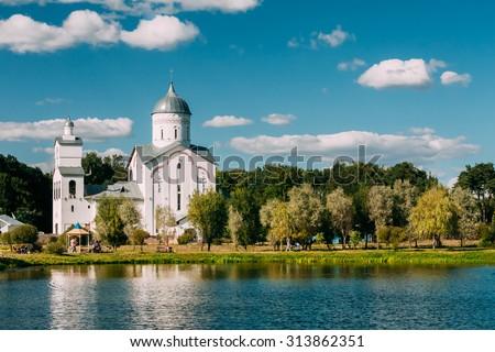 St. Alexander Nevsky Church in Gomel, Belarus. Building of Orthodox Church. - stock photo