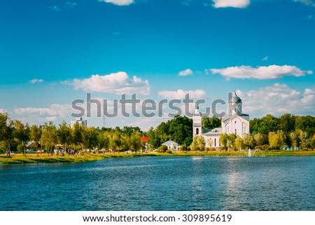 St. Alexander Nevsky Church in Gomel, Belarus. Orthodox Church - stock photo