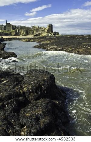 St Andrew's Castle, Scotland - stock photo