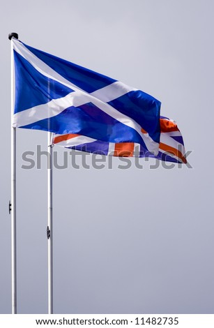 st andrews and union jack - stock photo